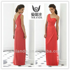Watermelon Red One Shoulder Column Zuhair Murad Dresses For Sale