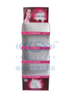 Cardbaord Facial Mask Display Stand With 4 Levels