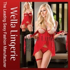 High Quality Red Hot Valentines' Chiffon Babydoll Set - Lowest Price Ever!