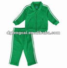 80% cotton 20% polyester boys track suit with logo embroidery
