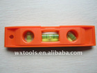 6 inches mini plastic Torpedo Level with Magnetic trips