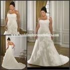 Al-w3840 New Elegant One Shoulder Chiffon Plus Size Wedding Gown