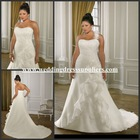Al-w3840 New Elegant One Shoulder Chiffon Plus Size Wedding Gown