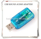 USB SOUND CARD, 3D 5.1 AUDIO ADAPTER for PC