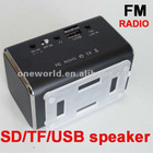 Mini Speaker Box FM Stereo Radio Micro SD Card USB Flash Connected With TV Mobilephone MP3 MP4