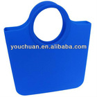 Branded silicone rubber fashion hand bags for ladys