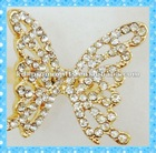 DKR247 hot design gold tone elegant butterfly with shining rhinestone ring