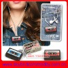 cassette tape headphone cord wrap for earphone