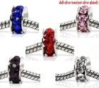 Mixed Rhinestone Spacer Beads Fit Charm Bracelet