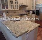 giallo fiorito granite kitchen countertop