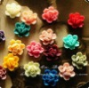 2012Newest Resin Flower for decorating necklace Pendant or ring 14mm