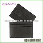 Metal Money Clip Leather Black