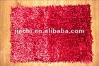 Hot sale brand new microfiber door floor red chenille mat factory