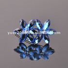 Fashion real crystal stone rhinestone hair clip