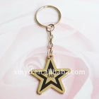 Custom Metal Keychains in Star Shape