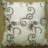 Cotton embroidery cushion with bead sequin