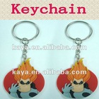 soft pvc superman key ring