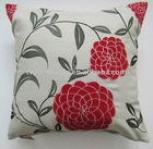 high-end flower embroidery and appilque cushion