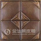 leather carved 3D decorative wall tile panel