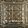 embossed 3D leather sandwich wall panel