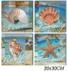 printed Canvas Painting in ocean design 4asstd