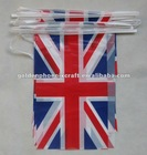 Rectangle Polyester/Plastic UK National Flag, Decorative String Flag