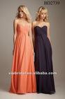 simple elegant sweetheart orange chiffon bridesmaids dresses