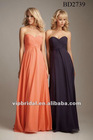 simple elegant sweetheart orange chiffon bridesmaids dresses