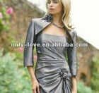 silver half sleeves evening jacket bolero WB119