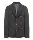 Men's wool multiple pocket blazer jacket