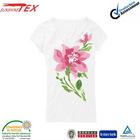 top fashion girl printed v neck white t shirts