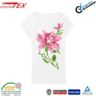 top fashion girl printed v neck white t shirts