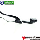 High Quality stereo flat cable earphones headphones headset for htc sony samsung nokia