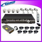 8 CHANNEL/REAL TIME/3G SUPPORT CCTV Surveillance Camera System Kit+DVR+Cameras+adaptor