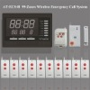 Hospital 99 Zones LED Display Wireless Emergency Call Nurse Call Emergency Response System