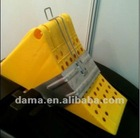 Dm05082/Dm05082S, used for truck body parts, yellow plastic wheel chock