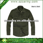 Fashion military style 100%cotton spring/autum long sleeve casual shirt