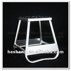Aluminum Motorcycle Arched Base Stand Silver Color (HS-MP3-AB)