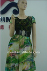 elegant lady's chiffon dress garment