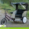 Front motor pedicab rickshaw with rain cover
