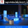 LED light furniture/translucent stone furniture for bar