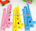 top grade plastic ruler with animal shape