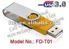 USB3.0 Swivel Twist USB memory pendrive of 8GB,16GB,32GB,64GB