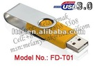 USB3.0 Swivel Twist USB memory pendrive of 8GB,16GB,32GB,64GB