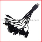 10 in 1 Portable USB Charger Cable for Cell Phone iPod
