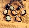Korea style retro colorful elliptic diamond earrings for lady - Free Shipping