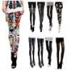 Hot Fashion Slim Sexy Womens' Rock Punk Funky Leggings Warm Tights Pants Black
