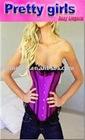 purple women sexy corset bustier