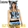 2012 New Design Women's Faux Fur Animal Sexy Costume
