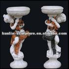 Hand carved garden marble flower pot